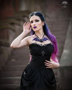 Victorian Goth, Gothic, Goth Model, Unisex Gifts, Latex Fashion, Fashion Models, Bat Wings, Dress Outfits, Dresses