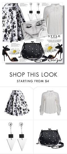 """""""Skirt - White And Black 58"""" by ramiza-rotic ❤ liked on Polyvore featuring Christian Louboutin, vintage, Summer and rosegal"""