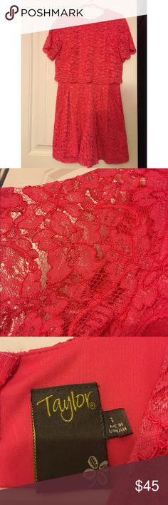 Coral jumpsuit Never been worn Coral Jumpsuit, beautiful lace/floral material Taylor Dresses Other