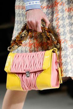 Miu Miu Fall 2015 Ready-to-Wear - Details - Gallery - Style.com Diese und weitere Taschen auf www.designertaschen-shops.de entdecken