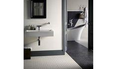Geometric Hexagon mosaic bathroom floor tiles from Fired Earth Mosaic Bathroom, Bathroom Floor Tiles, Small Bathroom, Tile Floor, Kitchen Window Sill, Simple Bathroom Designs, White Interior Design, Apartment Layout, Kitchen Decor Themes