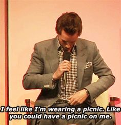 This is adorable. It's gingham, Eddie. And just so you know I would picnic on your shirt any day ;)
