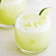 Honeydew melon puree, fresh-squeezed lime juice, agave nectar and silver tequila make this honeydew lime margarita extra refreshing and delicious.
