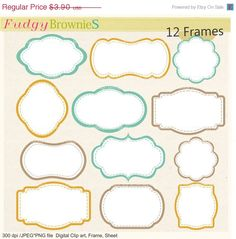 ON SALE frame clip artcute frames clipartwhite by fudgybrownies
