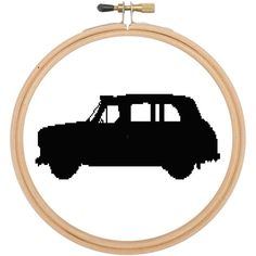Cross stitch pattern London Black Taxi £1.80 by CraftwithCartwright