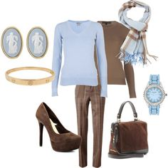 Classic Blue and Brown for Fall - Polyvore