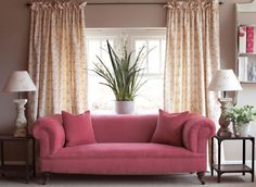We love colour blocking furnishings and cushions.