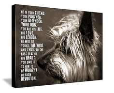 Dog PET Lover MANS best friend Loss of Pet  by GeezeesCustomCanvas, $140.00