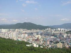 South Korea   view over the city of Busan, South Korea