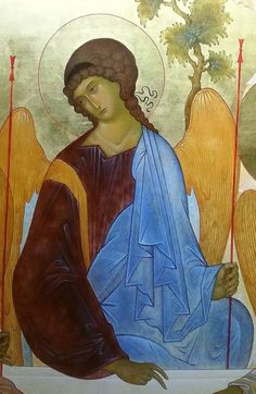 Angel of the Holy Trinity Byzantine Icons, Byzantine Art, Christian World, Christian Art, Religious Icons, Religious Art, Trinidad, Greek Icons, Roman Church