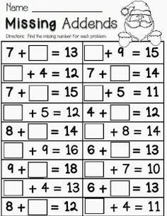 Worksheets First Grade Christmas Worksheets 1000 images about christmas worksheetsprintables on pinterest missing addends freebie theme this activity is more for elementary children but still a nice idea to integrate winterc