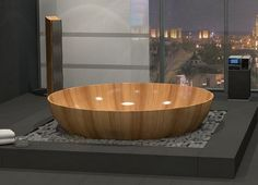 Beautiful Bathroom With Wooden Baths_40