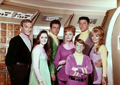 The 'Lost in Space' family Robinson. Hmmmm, couldn't tell Will (Bill Mumy) was wearing fuschia on my B&W TV.