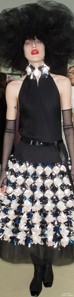 Chanel Spring Couture 2015 Backstage - Model: Sarah Brannon