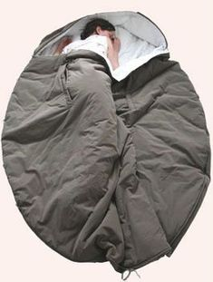 Nebukuro sleeping bag - I like the around-the-head/shoulders part....should keep drafts to a minimum on cold nights.