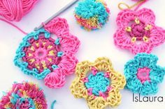 Tutorial fiore a crochet Tutorial flowers crochet