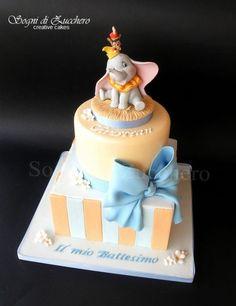 Baby Dumbo Christening Cake - CakesDecor