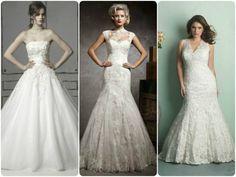 Gyönyörűséges esküvői ruhák molett hölgyeknek