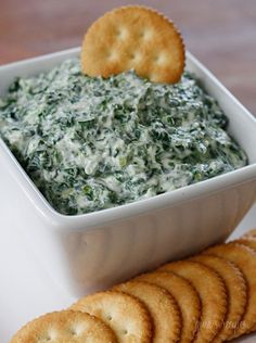 This spinach dip is creamy, light and delicious!