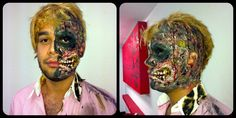 Harvey two dent o doble cara. Aprende a crear fácilmente este maquillaje de cara quemada