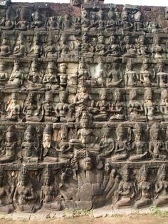 13th century. Bayon style. Created during the reign of Jayavarman VII,  added to by Jayavarman VIII.
