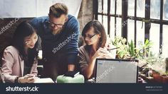 Business Team Corporate Marketing Working Concept