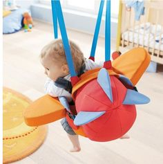 So cute! Airplane baby bouncer thing