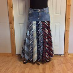 2 X blaue Jeans Krawatten Rock/Plus Größe 20/groß/Filterkaffeemischung Rock/Seide Rock/Denim Rock/gestreift/Full Aline Rock/Altstoff Recycling zweckentfremdet von sewsomer auf Etsy https://www.etsy.com/de/listing/478951309/2-x-blaue-jeans-krawatten-rockplus