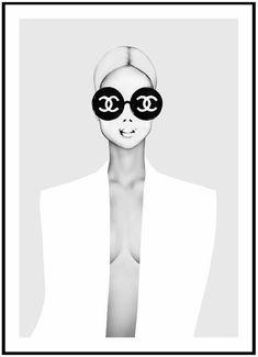 Poster Chanel, Chanel Logo, Art Chanel, Chanel Wall Art, Prada Poster, Chanel Print, Prada Marfa, New York Poster, Ballerina Poster
