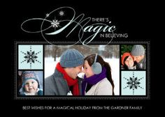 Mixbook There's Magic in Believing Holiday Photo Cards