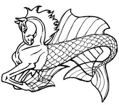Pegasus Unicorn Coloring Pages | Horse Tattoo Black Pegasus Flying Wings Glass Coloring