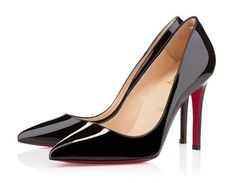 Pigalle Patent Black, tacco 10 cm by Christian Louboutin - #shoes #black #louboutin