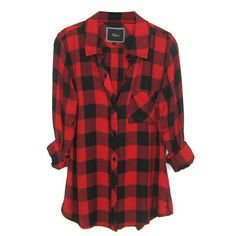 Rails Hunter Plaid Shirt in Black/Red Check found on Polyvore