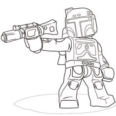 Lego Star Wars Boba Fett Coloring Page From Category Select 21360