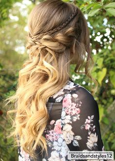 Romantic Half up Half down Hairstyle by Braidsandstyles12 . Youtube Tutorial  : https://www.youtube.com/watch?v=twD5zcyRruQ
