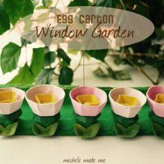 EggCartonWindowGardenMicheleMadeMe