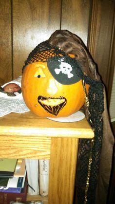 Pirate Pumpkin won 1st Place at work!