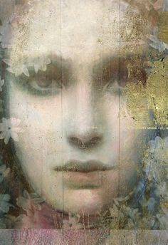 """""""Chiaroscuro Gold"""" represents the awakening of our essential nature. Encaustic Painting, Chiaroscuro, Figure Painting, Portrait Art, Figurative Art, Mixed Media Art, Painting Inspiration, New Art, Art Photography"""