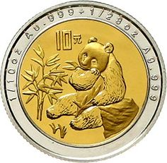 10 yuan Buses-metal gold / silver 1996 panda near the consumption from bamboo. 3.11 g. Gold and 1.11 g. Silver. KM 893, nice 879. proof coinage, rare  Dealer Teutoburger Münzauktion & Handel GmbH  Auction Minimum Bid: 500.00EUR