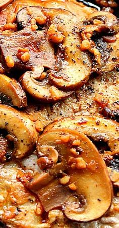 Garlic Butter Mushroom Pork Chops Recipe , By Healthy Living and Lifestyle . Garlic Butter Mushroom Pork Chops Recipe - Tender and Meat Recipes, Crockpot Recipes, Chicken Recipes, Dinner Recipes, Cooking Recipes, Healthy Recipes, Pork Dinner Ideas, Recipies, Sides For Pork Chops