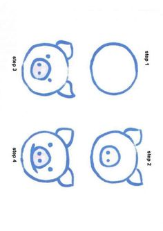 Step to drawing a pig