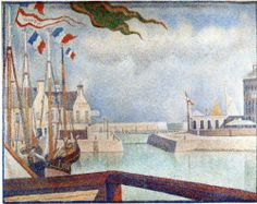 Sunday at Port-en-Bessin - Georges Seurat, 1888