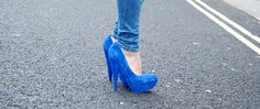 Cobalt and (faux) suede just go hand in hand