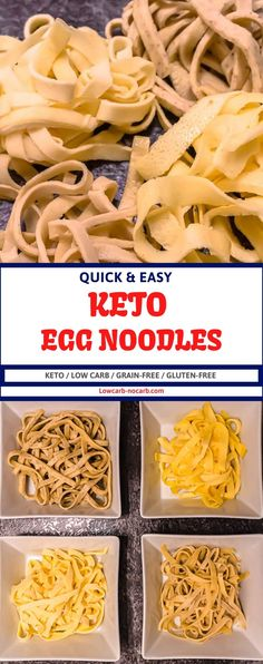 These Homemade Keto Egg Noodles Recipe with a perfect texture and only 4 ingredients and 8 minutes to bake are a perfect addition to your Low Carb Living. Fully Gluten-Free, Low Carb and easy to make, this Low Carb Pasta is perfect to use instead of regular pasta in your soups, casserole, lasagna or with any of the low carb sauces.