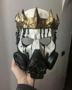 Skull King gas mask – Leather mask - To Have a Nice Day Character Inspiration, Character Design, Armadura Cosplay, Hannya Maske, Creation Art, Skull Mask, Skull Helmet, Leather Mask, Masks Art