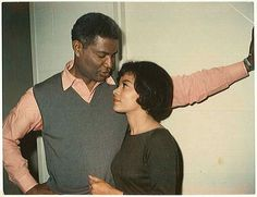 Ossie and Ruby Dee together-1960s-  She looks beautiful!!  This is how a man should admire his women.