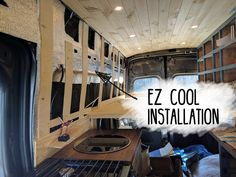 It's the EZ Cool installation in our Ford Transit campervan conversion. Materials, tools, cost, etc. Fully illustrated for your viewing pleasure!