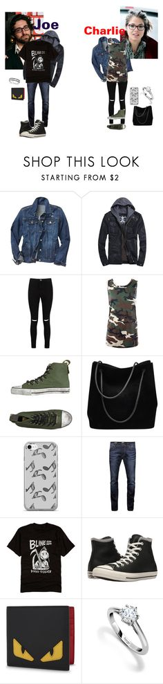 """""""Joe and Charlie Trohman"""" by lulugurl98 ❤ liked on Polyvore featuring Gap, Boohoo, Sans Souci, DIONISO, Gucci, Music Notes, Jack & Jones, Converse, Fendi and Asprey"""