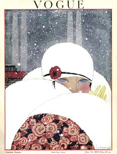 Vogue January 1919, illustration by Georges Lepape