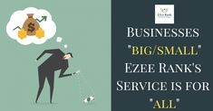 EZee Rank-is a digital/online marketing agency that offers SEO Services,PPC Services,Social Media Marketing Services,Web Design Services,Digital Services and other valuable services.We create a digital marketing strategy tailored to your business needs.Our professionals are highly goal-oriented therefore we assure you that you will not get any vague timeline as far as results are concerned.We provide our clients classic and satisfactory service in a very minimal and affordable price. Online Marketing Agency, Digital Marketing Strategy, Internet Marketing, Social Media Marketing, Web Design Services, Seo Services, How To Plan, Timeline, Business